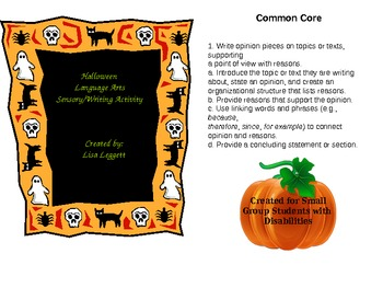 Halloween Writing Activity for Students with Disabilities