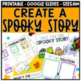 Halloween Writing Book, Spooky Story Digital Distance Learning