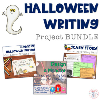 Halloween Writing Bundle: Narrative and Poetry Units