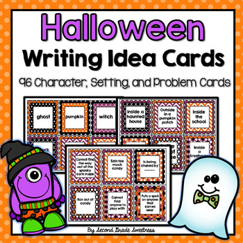 """Halloween Writing Prompt Cards: """"Spooktastic Writing"""" Ideas"""
