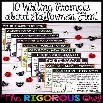 Halloween Writing Center Activity and Prompts