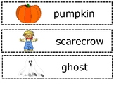 Halloween Writing Center Words