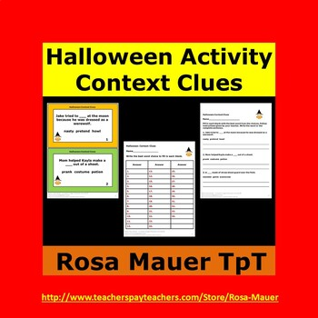 Halloween Writing Context Clues Activity