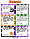 Halloween -Writing Contract - six activities with reproducibles
