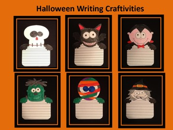 Halloween Writing Craftivity Bundle