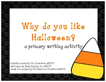 "Halloween Writing ""Craftivity"""