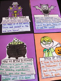 Halloween Writing Craft Activities Bundle
