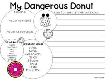 Halloween Writing Freebie! Dangerous Donut