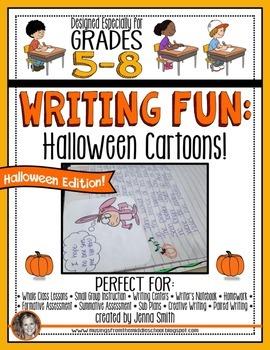 Halloween Writing Fun: Halloween Cartoons!
