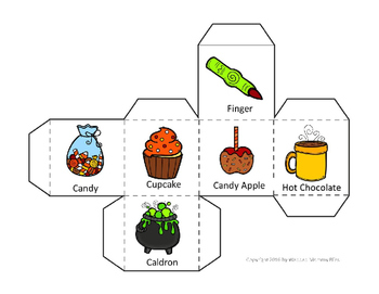 Halloween Writing Game for Centers - Halloween Story Blocks