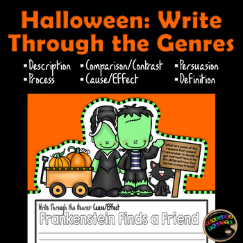 Halloween Writing Genres: Activity and Bulletin Board Display