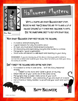 Halloween Writing - Digital / Google Version