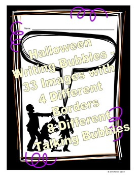 Halloween Creative Writing - Halloween Characters with Speech Bubbles