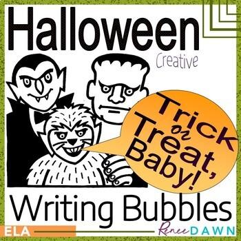 Halloween Creative Writing - Halloween Characters with Spe
