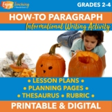 Halloween Writing Activity - How to Carve a Pumpkin