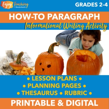 Halloween Writing Activity for Third or Fourth Grade - How to Carve a Pumpkin
