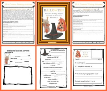 Halloween Writing-Integrated with  Bill Martin Jr.'s Literature (CCSS Aligned)