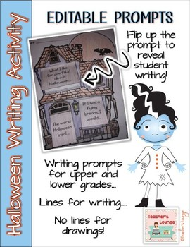 Halloween Writing Interactive Craft - EDITABLE