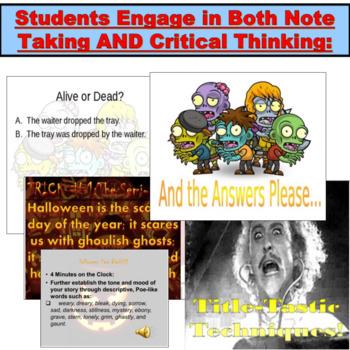 Halloween Writing JUMBO PowerPoint Activity!