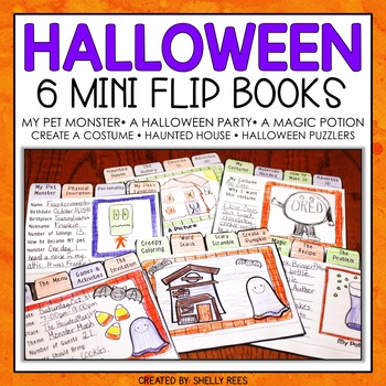 Halloween Writing - Mini Flip Book Writing Projects