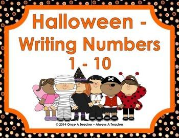 Halloween - Writing Numbers 1-10