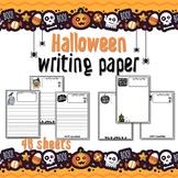 Halloween Writing & drawing PAPER - 46 sheets