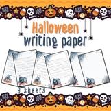 Halloween writing / drawing PAPER - 9 sheets