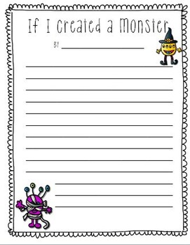 Halloween Writing Pack, (Menu, Paper, Prompts)