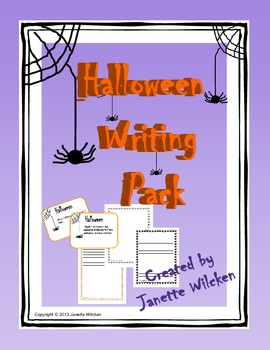 Halloween Writing Pack: Prompt cards and themed writing paper