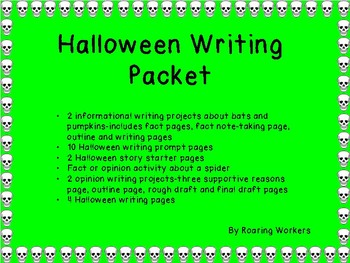 Halloween Writing Packet