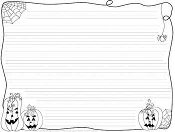 Halloween Writing Pages