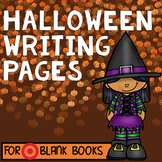 Halloween Writing Pages for Target BLANK BOOKS!