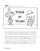 Halloween Writing Pages (with safety pages)