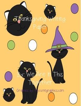 Halloween Writing Paper