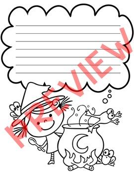 Halloween Writing Paper - Halloween Activities - Great for Literacy Centers