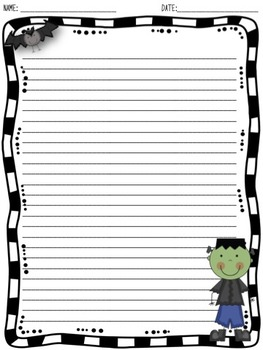 Halloween Writing Paper (3 DESIGNS! 2 LINE VERSIONS!)