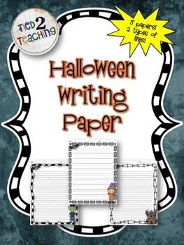 Halloween Writing Paper (3 DESIGNS! 2 LINE VERSIONS!)