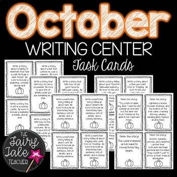 October Writing Units, October Writing Centers