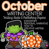 Halloween Writing Task Cards and Paper