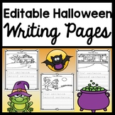 Halloween Writing Paper {6 Editable Writing Pages!} {Halloween Writing Activity}