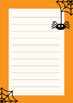 Halloween Writing Paper / Borders