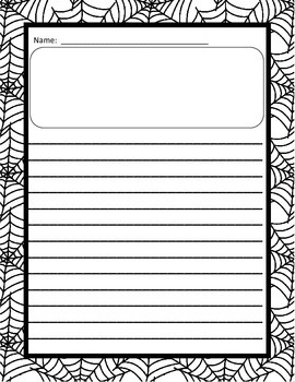 Halloween Writing Paper - Differentiated (Primary-lined and Single-lined)