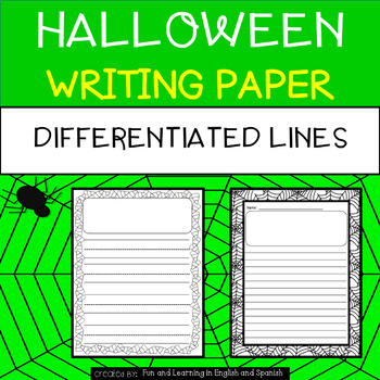 Halloween Writing Paper - Differentiated (Primary-lined an