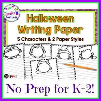Halloween Writing Paper (Draw Your Face!)