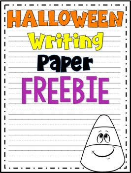 Halloween Writing Paper FREEBIE