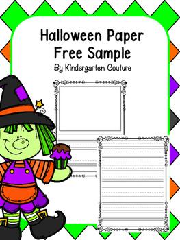 Halloween Writing Paper Free