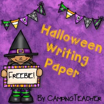 Halloween Writing Paper {Freebie!}