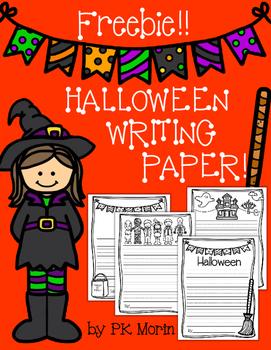 Halloween Writing Paper Freebie - Kindergarten Lines