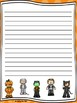 Halloween Writing Paper--Halloween Writing Stationary--DIFFERENTIATED