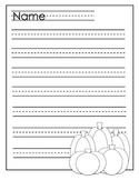 Halloween Writing Paper K-2